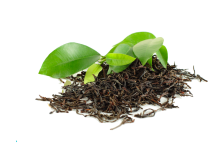 black-tea-with-green-leaf-isolated-white